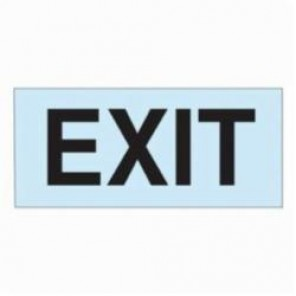 Brady® 73558 BradyGlo™ Rectangle Egress Marker Sign, 4 in H x 9 in W, Black on Photoluminescent, Surface Mount, B-324 Glow-In-The-Dark Polyester
