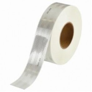 Brady® 76434 Vehicle Conspicuity Tape, 50 yd L x 0.02 to 0.024 in THK, DOT-C2 Solid White, B-752 Diamond Grade Reflective Sheeting