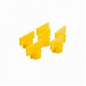 Brady® 80961 Small Post Sign Adapter, 1-3/4 in H x 5 in W, For Use With General Equipment, Polyethylene, Yellow