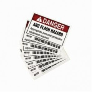 Brady® 81107 Laminated Rectangle Arc Flash Protection Label, 2 in H x 3 in W, Black/Red on White, Self-Adhesive Mount, B-302 Polyester