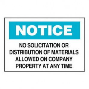 Brady® 84151 Laminated Admittance Sign, 7 in H x 10 in W, Black/Blue on White, Surface Mount, B-302 Polyester