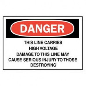 Brady® 84924 Electrical Hazard Sign, 14 in W x 10 in H, Black/Red on White, B-302 Polyester