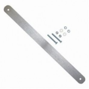Brady® 86338 Fence Sign Bracket, 23 in L, For Use With 24 x 18 in or 24 x 24 in Rectangular, Square or Octagonal Traffic Sign, Aluminum, Silver