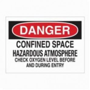 Brady® 22429 Rectangle Admittance Sign, 7 in H x 10 in W, Black/Red on White, Surface Mount, B-401 Plastic