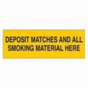 Brady® 88410 Laminated Rectangle No Smoking Sign, 3-1/2 in H x 10 in W, Black on Yellow, Surface Mount, B-302 Polyester