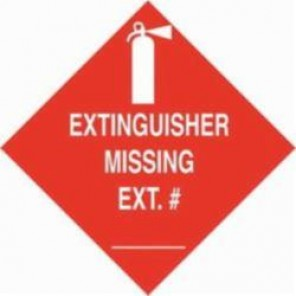Brady® 90379 Rectangular Fire Sign, 3-1/2 in H x 3-1/2 in W, White On Red, Self-Adhesive Mount, B-302 Polyester