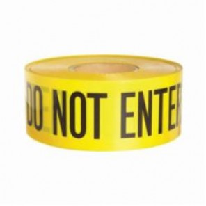 Brady® 91451 Lightweight Barricade Tape, CAUTION DO NOT ENTER, 3 in W x 1000 ft L, Yellow/Black, Polyethylene