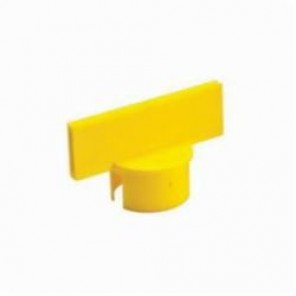 Brady® 92134 Large Post Sign Adapter, 2 in H x 6 in W, For Use With General Equipment, Polyethylene, Yellow
