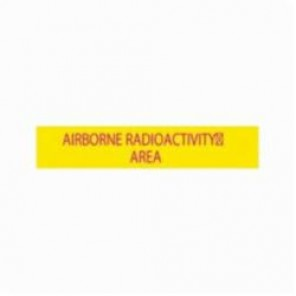 Brady® 93620 Rectangle Radiation Hazard Sign, 1-11/16 in H x 8 in W, Magenta on Yellow, Polycarbonate