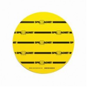 Brady® 96229 Spill Magnet™ Magnetic Drain Cover, 12 in Dia, Vinyl, Black on Yellow