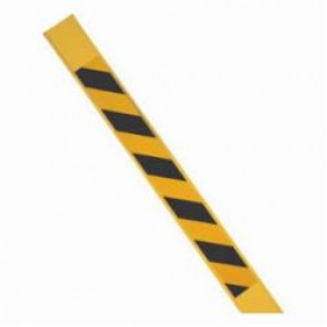 Brady® 96923 Bradystake® Reflective Warning Stake, Black on Yellow Reflective, 66 in H, Reinforced Polymer