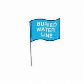 Brady® 98167 Marking Flag With 30 in Steel Rod, 4 in H x 5 in W, White on Blue, Plastic