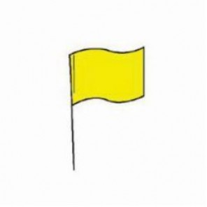 Brady® 98174 Marking Flag With 30 in Steel Rod, 4 in H x 5 in W, Yellow, Plastic