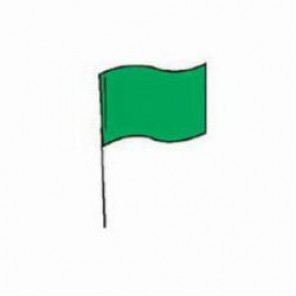Brady® 98177 Marking Flag With 30 in Steel Rod, 4 in H x 5 in W, Green, Plastic