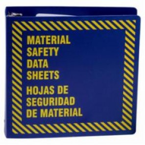 Brady® Prinzing® BR758B MSDS Binder, Material Safety Data Sheets/Hojas de Seguridad de Material, Bilingual, Yellow on Blue, 3 in Ring, 11-5/8 in H
