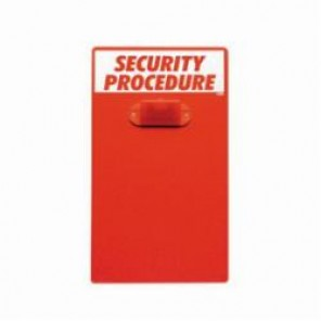 Brady® Prinzing® CB322E Instructional Clipboard, English, Workplace Safety, 17 in L x 9-1/2 in W, White On Red