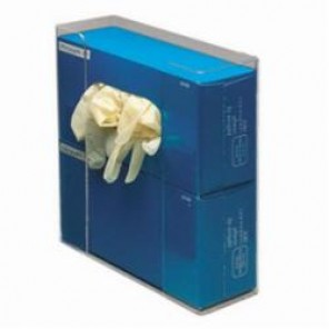 Brady® Prinzing® GD02 Double Box Glove Dispenser, 10.93 in W, Acrylic Glass, Clear, Wall/Table Top Mount