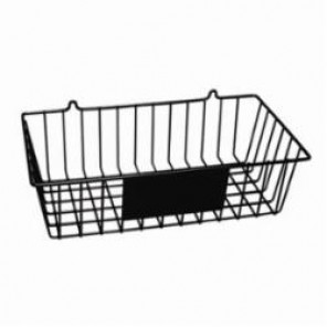 Brady® Prinzing® MS-RACK Unfilled Wall Mount Wire Basket, 14-1/2 in H x 15-3/8 in W x 8-3/4 in D, PVC Coated Steel, Black