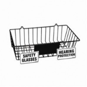 Brady® Prinzing® PD001E PPE Storage Rack, 4-1/2 in H x 15-3/8 in W, Wall Mount, Black