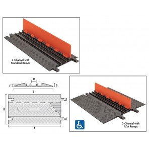 GUARD DOG® LOW PROFILE CABLE PROTECTORS - ANTI-SLIP RUBBER PAD KIT, Anti-Slip Rubber Pad Kit (For Low Profile Standard Ramp Models Only)