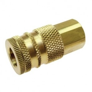 Coilhose® Coilflow™ Manual Industrial Type 15 Hose Coupler, 1/4 x 1/4 in, FNPT, 300 psi, Brass