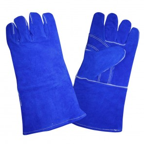 Cordova 7620 Select Shoulder Welders Glove, Blue Cowhide Leather, Reinforced Palm, Cotton Sock Lining, Men's Large