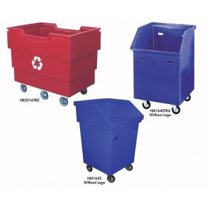 RECYCLING TRUCKS, Square Truck, Cap. (Cu. Ft.): 19, Outside Size W x L x H: 28-1/2 x 28-1/2 x 47""