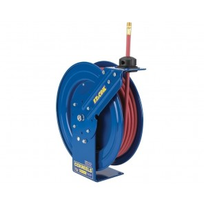 "EZ-COIL® SAFETY SERIES HEAVY DUTY HOSE REELS, Reel without hose (use w/Low Pressure hose), I.D.: 3/8"", Length: 50', P.S.I.: 300, Max Temp. (°F): 150, Size W x H x L: 17-1/4 x 18-1/4 x 6-1/8"""