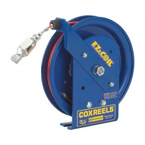 "EZ-COIL® SAFETY SERIES STATIC DISCHARGE CABLE REELS, Cable Dia.: 3/16"", Cap.: 50', Size W x H x L: 4 x 12 x 11"""