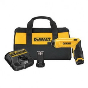 DeWALT® DCF680N2 High Performance Cordless Screwdriver Kit, 1/4 in Chuck, 23 in-lb Torque, 8 V, Li-Ion Battery