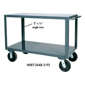 "HEAVY DUTY SERVICE TRUCKS, Size W x D x H: 36 x 24 x 36"", No. Shelves: 2"