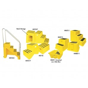 "STEPS, Standard Steps, Size: 19-1/4 x 13-1/2 x 11-3/4"" H., No. of Steps: 1"