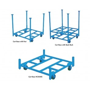 STACKING RACK CARTS, Cap. (lbs.): 2000, Size W x L: 60 x 60""