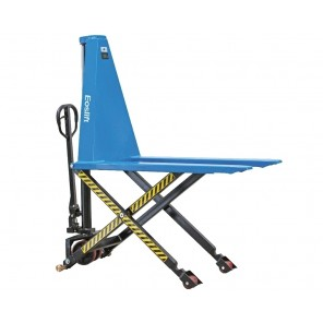 """SCISSOR LIFT PALLET TRUCKS, Cap. (lbs.): 3300, Fork Size W x L: 27 x 45"""", Telescoping Lift: Double Cylinder, Raised Height: 31.5"""", Lowered Height: 3.3"""""""