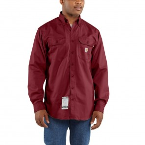 Men's Carhartt Flame-Resistant Twill Shirt with Pocket Flaps