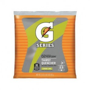 Gatorade® 03969 Sports Drink Mix, 21 oz Pack, Powder, 2.5 gal, Lemon Lime