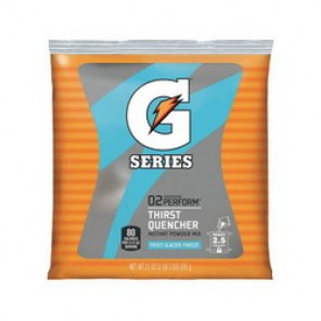 Gatorade® 33677 Sports Drink Mix, 21 oz Pack, Powder, 2.5 gal, Glacier Freeze