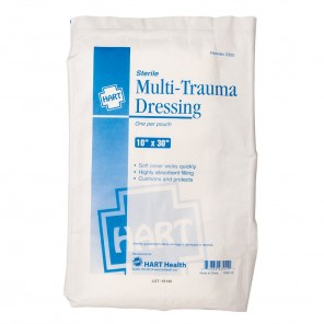 "Multi-Trauma Dressing 2355, HART, Sterile, 10"" x 30"", Each"