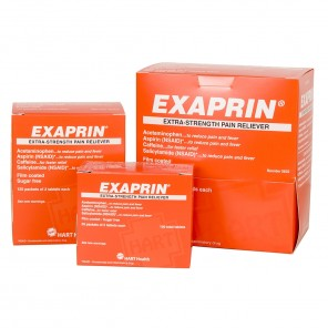 EXAPRIN Extra-Strength Pain Reliever, HART Industrial Pack, 50/2's Box 5631