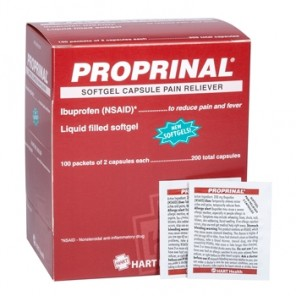 PROPRINAL Softgel, HART, 200 mg ibuprofen, compare to Advil, 100 packets of 2 capsules per box (200 total capsules) 5697