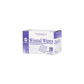 Wound Wipes HART antibacterial wipes 20/box