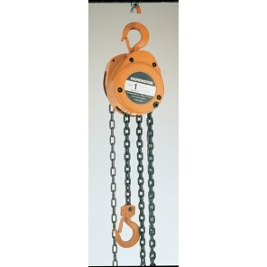 "HAND CHAIN HOIST, Cap. (Tons): 42737, Lift: 10', Headroom: 12.8"", No. Chains: 1"