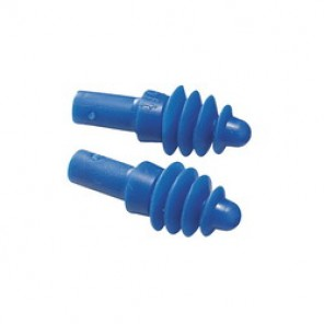 Howard Leight by Honeywell DPAS-30R Corded Multiple Use Reusable Ear Plug, Four-Flange, 27 dB, Blue Plug, Box of 100 pairs