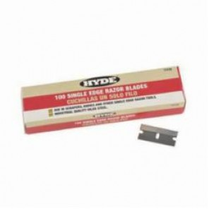 Hyde® 13135 Single Edge Razor Blade, 0.009 in THK, For Use With Razor Blade Scraper and Wallcovering Knife, Industrial Steel