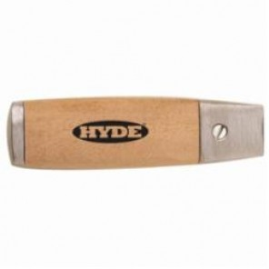 Hyde® 63080 Mill Blade Handle, For Use With 3/4 in Blade, Hardwood/Solid Aluminum Casting, Beige/Natural