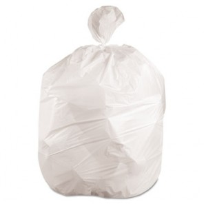 "Boardwalk 2423EXH Low-Density Waste Can Liners 24""W x 23""H 10 Gal, 0.4 mil, White, 500/Carton"