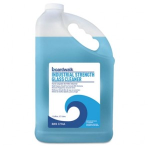 Boardwalk BWK4714A Industrial Strength Glass Cleaner with Ammonia, 1 Gal Bottle, 4/Carton