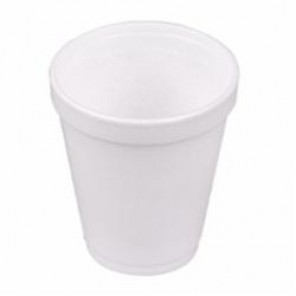 Dart® 10J10 Insulated Small Drink Cup, 10 oz, Round, Styrofoam, White
