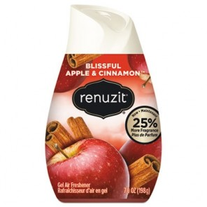 Renuzit Adjustables Air Freshener Gel, Blissful Apples and Cinnamon, 12/Carton