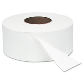 "Windsoft WIN202 White Jumbo Roll Bath Tissue, 9"" dia, 1000ft, 12 Rolls/Carton"